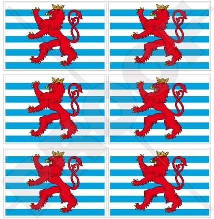 Luxembourg Civil Ensign Drapeau letzebuerg Luxembourg, 40 mm (40,6 cm) Téléphone Mobile Mini en vinyle autocollants, Stickers x6