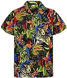 V.H.O. Funky Camisa Hawaiana, Jungle, Black, M