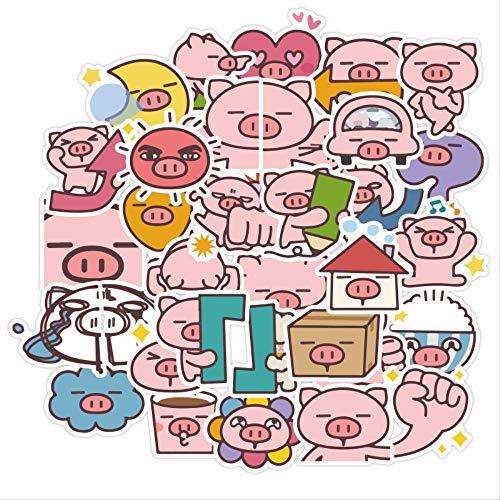 DSSJ Cartoon Pig Paper Stickers Crafts And Scrapbooking Stickers Kids S Book Decorative Sticker Diy Stationery 40 Pcs