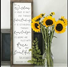 DASON by Wisdom a House is Built Sign Proverbs 24 34 Wood Sign Inspirational Dcor Bible Verse Housewarming Gift