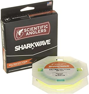 Scientific Anglers WF-6-F SA Sharkwave Titan Saltwater Fly Lines, Pale Yellow/Mist Green/Sky Blue Tip