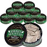 Smokey Mountain Pouches - Wintergreen - 10-Can Box - Nicotine-Free and Tobacco