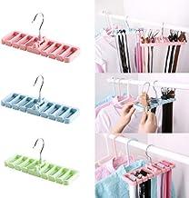 High quality functional Tie Link Hook Closet Wardrobe Space Saver Belt Belt Rack Hanger Hanging Tool New StoTool (Color : ...