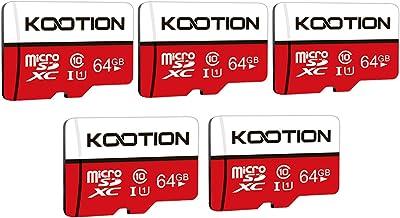 KOOTION 5-Pack 64GB Micro SD Card Class 10 Micro-SDXC...