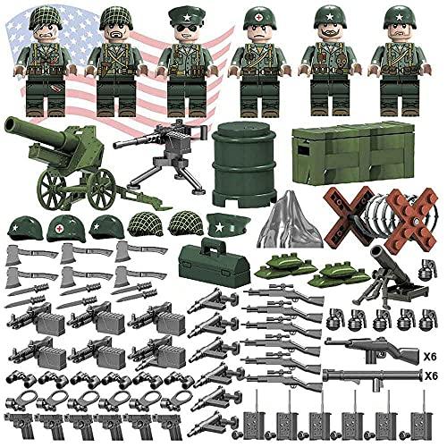 ATING Ensemble de figurines de soldat de l'armée américaine Seconde Guerre mondiale