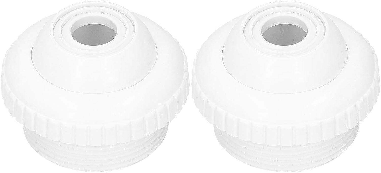 Boquilla de chorro de retorno de piscina de 2 piezas de 1,5 pulgadas, boquilla de chorro de piscina de rosca macho blanca para piscinas para piscina de baño común