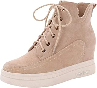 MisaKinsa Women Vintage Wedge Heels Boots
