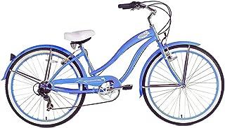 Micargi Rover 7-Speed Beach Cruiser Bike, Baby Blue, 26-Inch