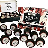 Bath Bombs Gift Set for Women with Inspirational Messages, Organic...