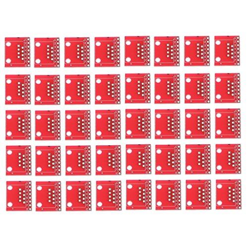 MagiDeal 40pcs Placas de Conectores Módulo PCB Pequeño Electrónica RJ45 Enchufes Ethernet Conexiones 8 Pines