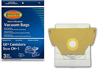 EnviroCare Replacement Micro Filtration Vacuum bags for GE Canisters CN-1 3 pack