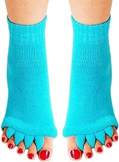 BelongsU, 1 Par Calcetines con Separador de Dedos Calcetines de Alineación de Pie Yoga Deportes Gimnasio Masaje CalcetinesAlivio del Dolor Mejora la Circulación para Mujeres Hombres