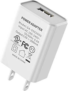 USB Wall Charger, Charger Adapter, BONAI One-Port USB Cube Power Universal Travel Adapter Plug Charging Block Cube for Phone 8/7/6 Plus/X, Samsung Galaxy S5 S6 S7 Edge,LG, ZTE, HTC, Android (White)