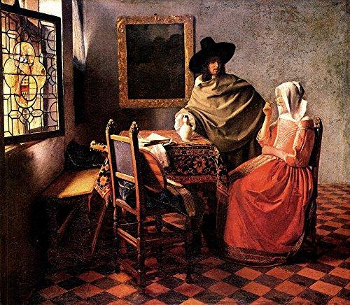 The Museum Outlet - Glas wijn van Vermeer - Poster Print Online kopen (40 X 50 Inch)