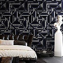 Special/Simple 3D Square Lattice Wallpaper Living Room Bedroom Wallpaper SN998014/blue Indigo (Color : Sn998014/Blue Indig...