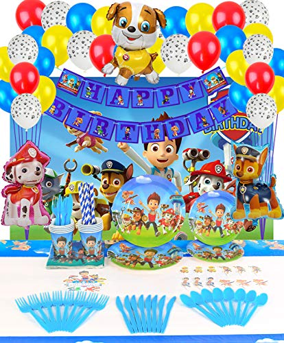 Why Should You Buy Paw Dog Patrol Party Supplies Decoratins Set- Serve 10 Guests -167 Pcs, Birthday ...