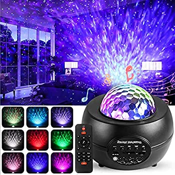 Star Projector Night Light 3 in 1 Ocean Wave Sky Projector Lights for Bedroom,Music Speaker Starry Sleep Lamp Projector 10 Colors Modes,21 Lighting Effects,Remote Control with Timer for Kids Adults
