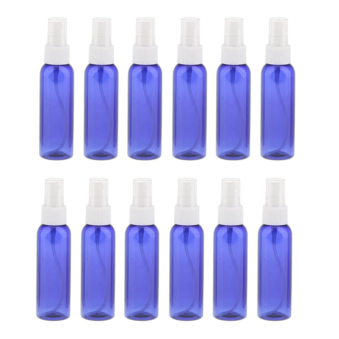 ベース麻痺させるアコードKesoto お買い得! 空 旅行用 スプレーボトル  アトマイザー 液体香水 軽量 便利 詰め替え&ポータブル 12本 60ML 全3色 - 白