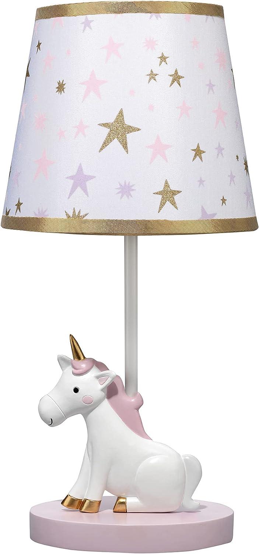 Bedtime Originals Rainbow Unicorn Cheap bargain Lamp Nashville-Davidson Mall Shade with Bulb White
