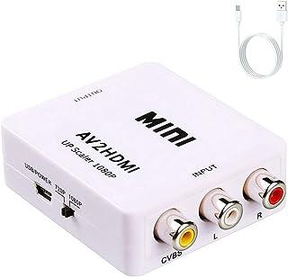 RCA to HDMI, AV to HDMI, Vilcome 1080P Mini RCA Composite CVBS AV to HDMI Video Audio Converter Adapter Supporting PAL/NTS...