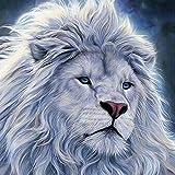 Peinture Diamant 5D Complet Lion Enfant DIY DAY8 Broderie de Diamants Point de Croix en Résine Décoration de Maison Salon Chambre Diamond Painting Kits Décoration de Noël Cadeau Pas Cher