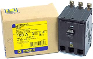 QOB3100 SQUARE D Circuit Breaker (QOB) Standard, 100A, 3-Pole, 240 Vac, 3-Phase, Bolt-On