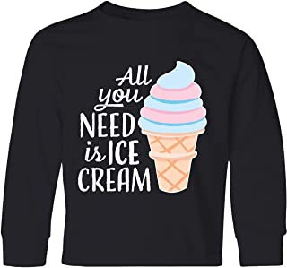 inktastic All You Need is Ice Cream with Ice Cream Youth Long Sleeve T-Shirt