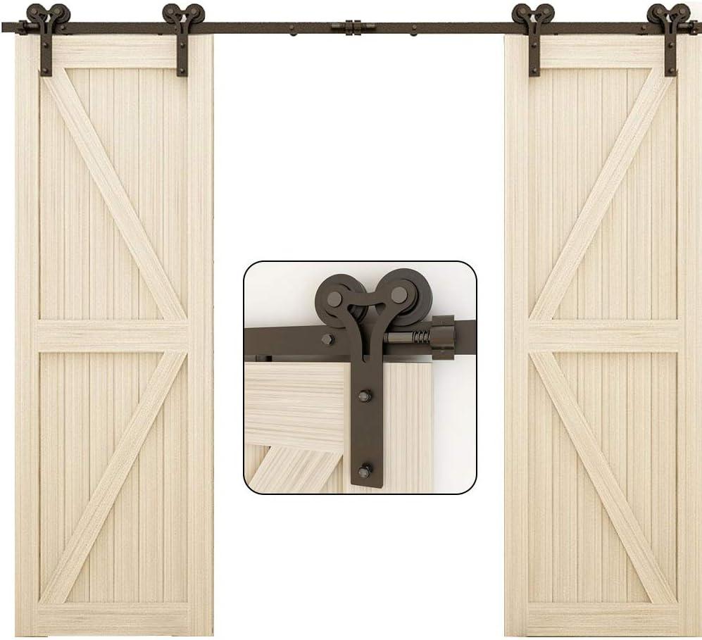 TSMST 13.6FT Sliding Barn Weekly 35% OFF update Door for Wood Hardware Double Kit