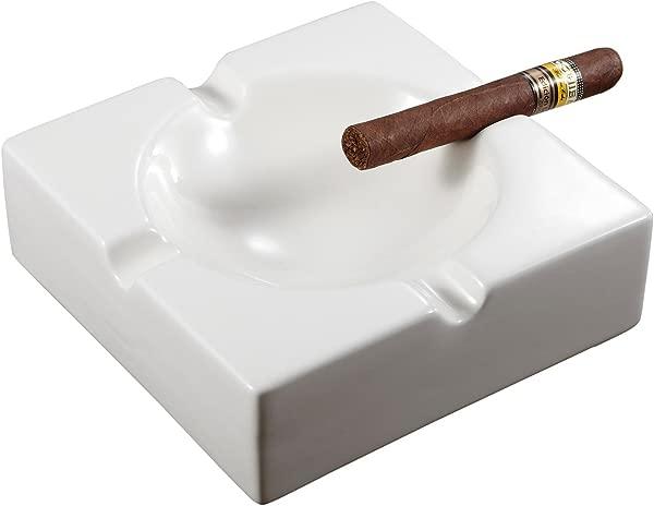 Visol Lokken 陶瓷露台雪茄烟灰缸白色