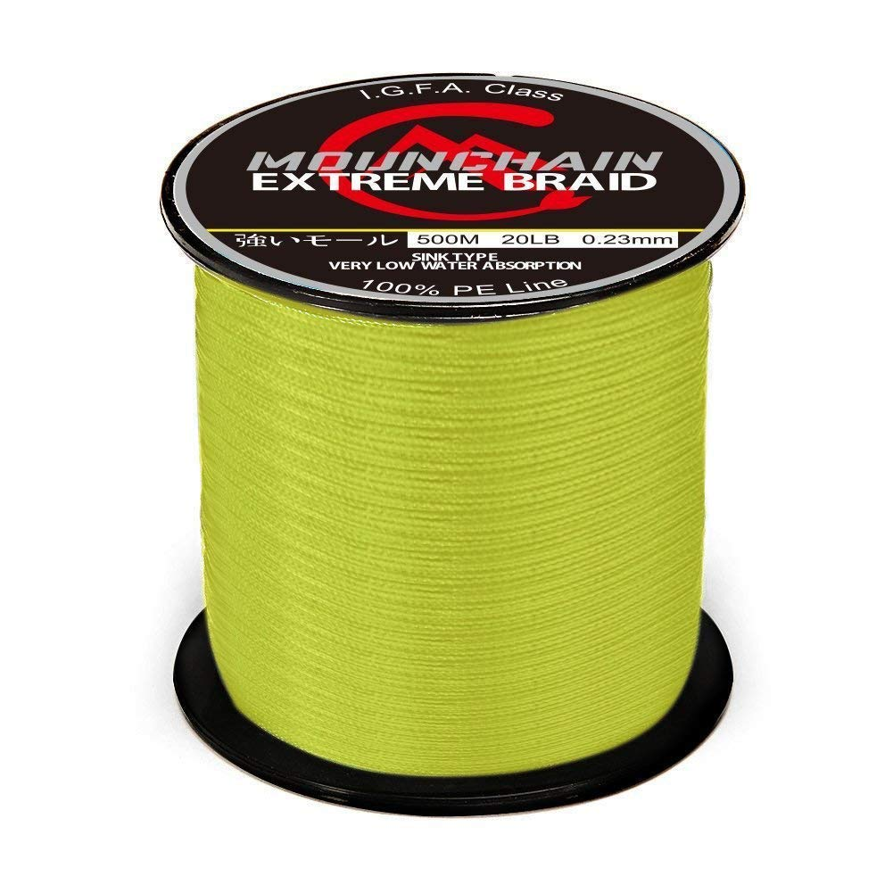 Mounchain 100% PE 4 & 8 Strands Braided Fishing Line, 10 20 30 40 LB Sensitive Braided Lines, Super Performance and Cost…