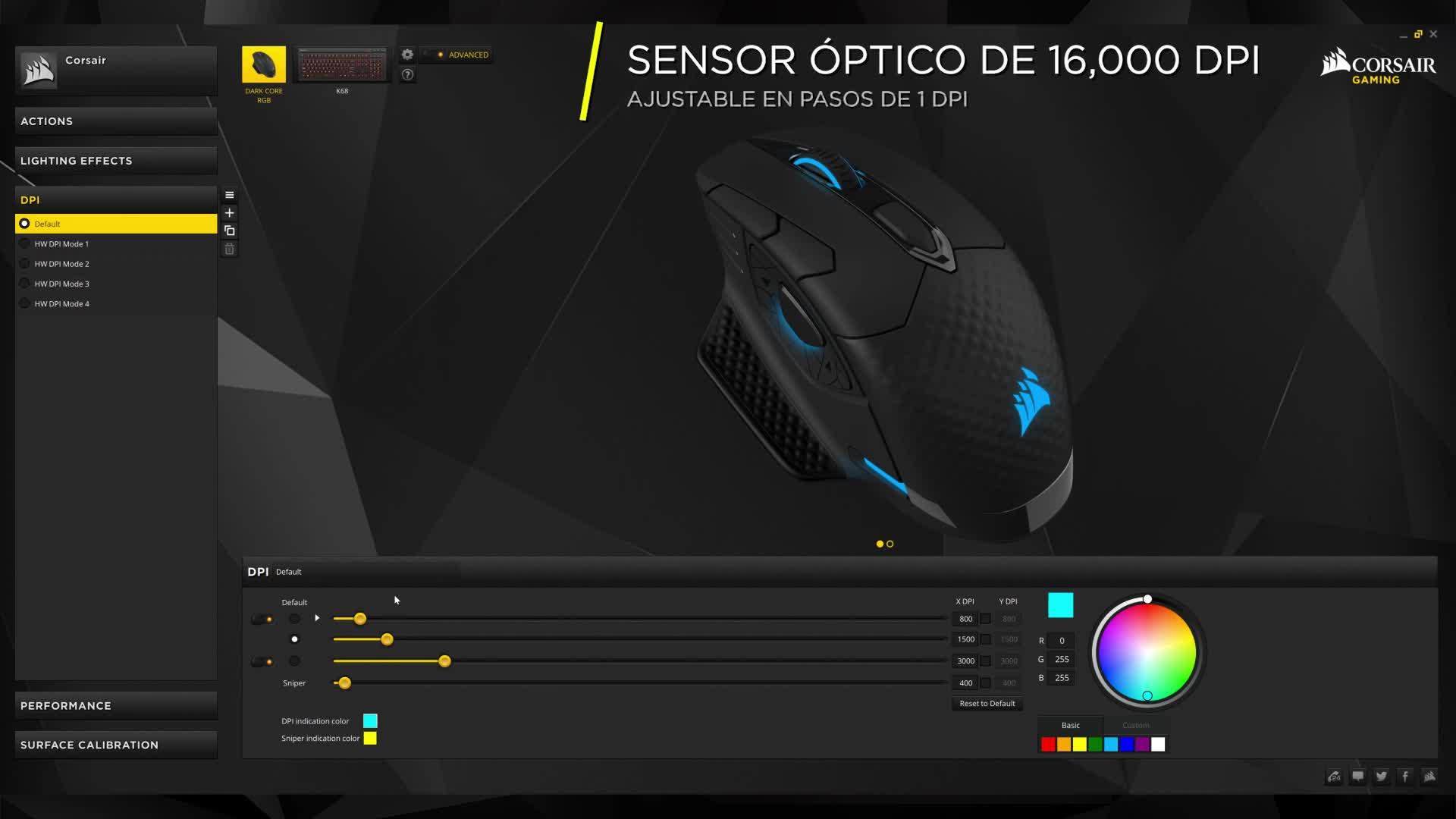 Corsair Dark Core RGB SE , Ratón óptico para juegos ...
