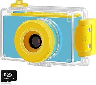 Kriogor Cámara Fotos Niño Impermeable Digital Juguete Cámara 4 Zoom Digital 2 Pulgadas 8MP 1080P HD Niña Regalos Cumpleaños Navidad (Tarjeta TF Incluida)