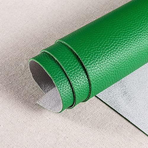 1.8mm Polipiel Tela De Cuero SintéTico para Tapizar Acolchado Manualidades Cojines O Forrar Objetos por Metros para La DecoracióN Interior del Asiento,Green