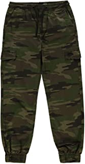 No Fear Camouflage Trousers Juniors Green Skate Clothing Pants Bottoms