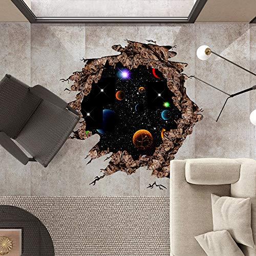 Muursticker donkerblauw planet afneembare poster vloersticker muursticker Home Decor