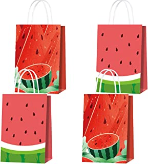 Watermelon Gift Bag 16 Pack Watermelon Party Favor Bags for Kids Watermelon Goodie Paper Bags with Handle for Summer Birth...