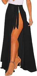 f41f0cdac30d7 Lalagen Womens Wrap High Waist Summer Beach Cover Up Maxi Skirt