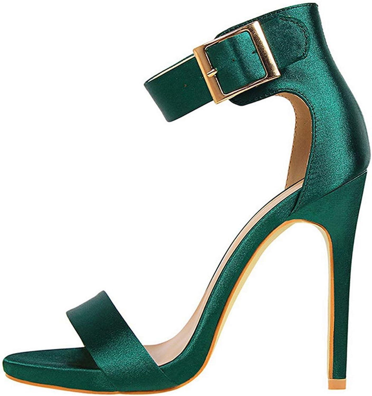 Summer Fashion Sandal Pumps Women Silk shoes Classic Satin High Heels Ladies Gladiator Sandals