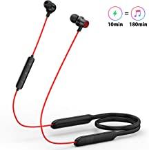 Wireless Earbuds, GEVO Bluetooth 5.0 Lightweight in-Ear Neckband Headphones, Fast Charging【16H Playtime+Connect 2 Devices at a time】 CVC8.0 Noise Cancelling IPX6 Waterproof Magnetic Earphone with Mic