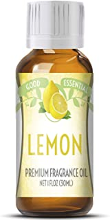 Lemon Scented Oil by Good Essential (Huge 1oz Bottle - Premium Grade Fragrance Oil) - Perfect for Aromather...