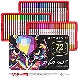 Hethrone Rotuladores Acuarelables Rotuladores Punta Pincel 72 Colored Artísticos de Fieltro...