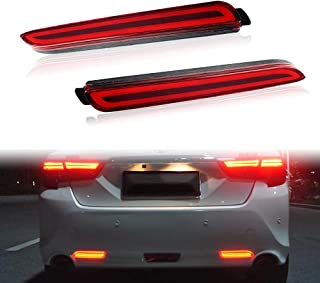 PGONE Red LED Rear Bumper Reflectors Fog Brake Tail Light sequential turn signal Lamps Accessories Kit For Toyota Rav4 Camry Sienna Matrix Venza Avalon Lexus RC250 RC350 IS-F GX470 RX300