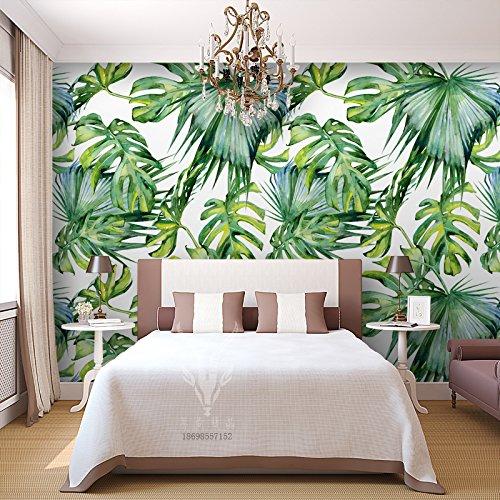 Yosot Acquerello Pianta Tropicale 3D Carta Da Parati Affresco Ristorante Soggiorno Camera Da Letto Murali Decorative-140Cmx100Cm
