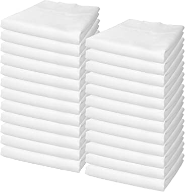 Arkwright Lulworth Pillow Cases Queen Bulk Pack of 24, T180 Poly/Cotton (20 x 30 Inches)
