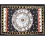 UrbanCharm-zodiac Tapisserie, Astrologie, indisch, schwarz