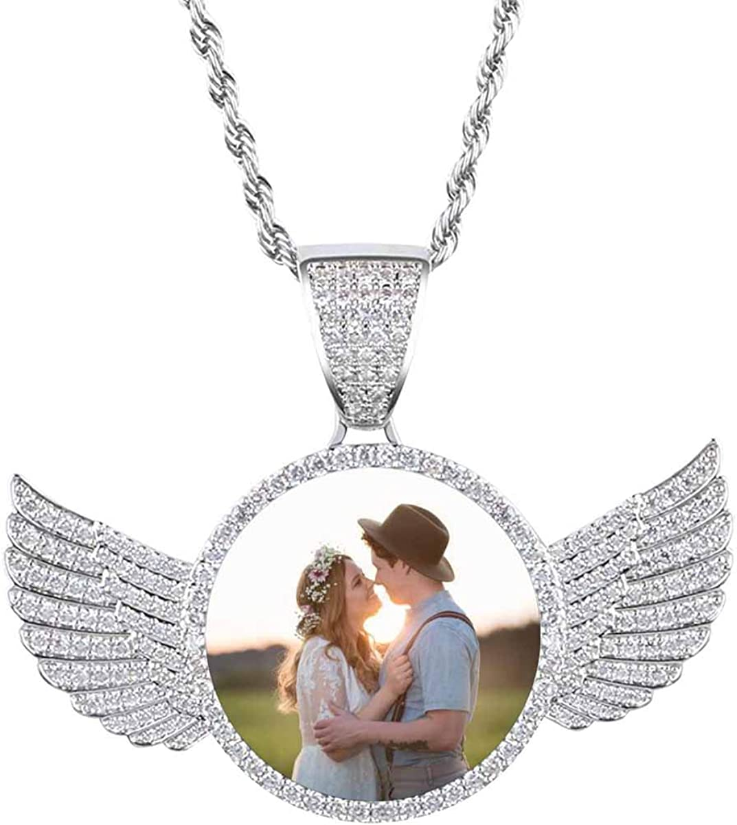 Attention brand Photo Necklace Wings Pendant Bulk A Othe Looking at 70% OFF Outlet Couple Each