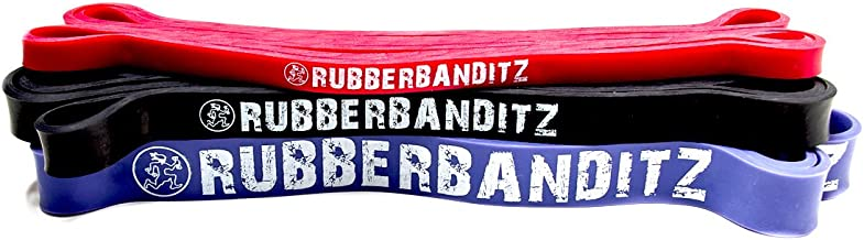 Rubberbanditz Combo Pull Up Assit Bands | Heavy Duty Resistance Exercise Bands for Powerlifting, Mobility, and Stretching