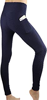 Awlsyj Women's Yoga Pants Butt Lifting Leggings High Waist Workout Tummy Control Sport Booty Tights with Pockets