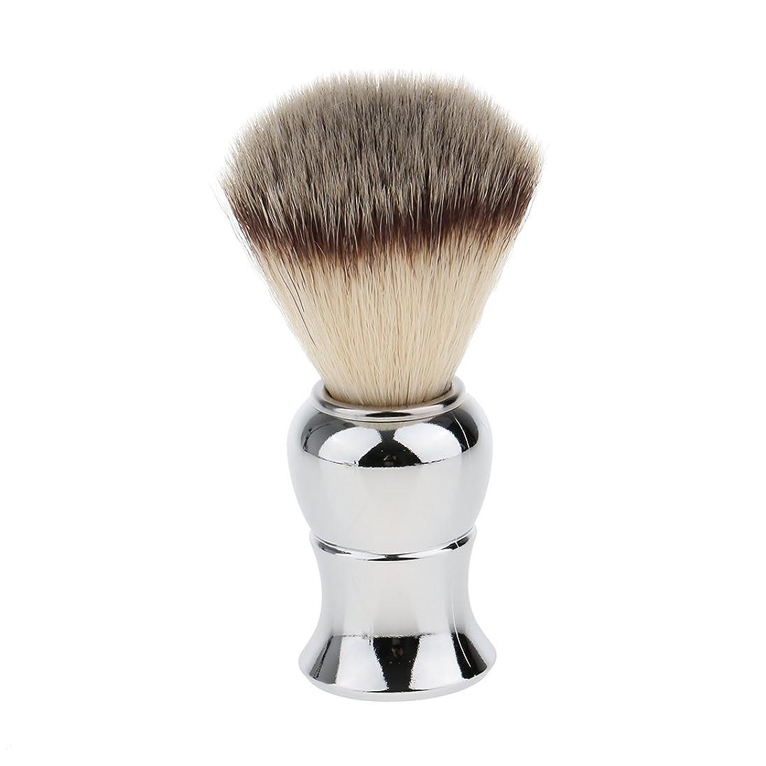 に頼るジュラシックパーク依存するKesoto メンズ シェービングブラシ ソフト ナイロン 合金ハンドル シェービング ブラシ サロン 髭剃りツール
