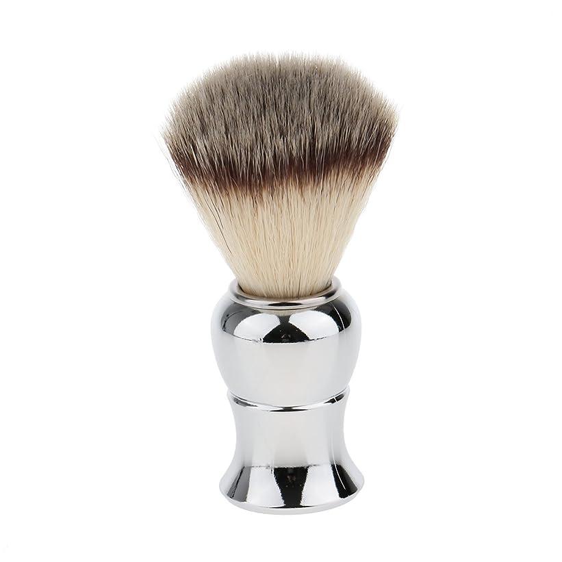 記録とにかくギャングスターKesoto メンズ シェービングブラシ ソフト ナイロン 合金ハンドル シェービング ブラシ サロン 髭剃りツール
